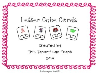 Letter Cube Cards
