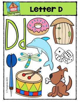 Letter D Alphabet Pictures {P4 Clips Trioriginals Digital Clip Art}