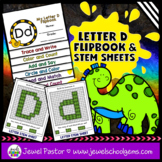Letter D Alphabet Flip Book (Alphabet Interactive Notebook Activities)