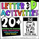 Letter D Activities   Alphabet   Letter Recognition, Formation and Sounds