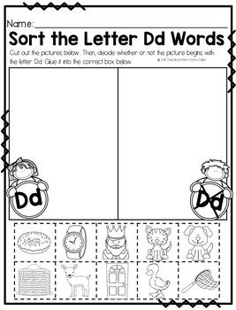 Letter Dd Activity Pack