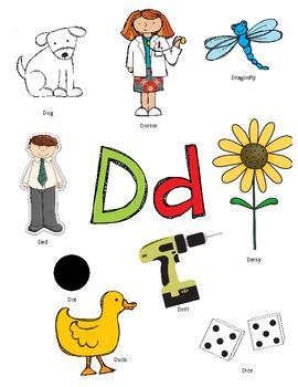 Letter D Activity Packet