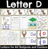 Letter D Activity and Center Packet