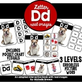 Letter D- Adapted Interactive Book & Picture Cards With Real Images