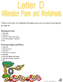Letter D Alliteration Set by C and L Curriculum | TpT