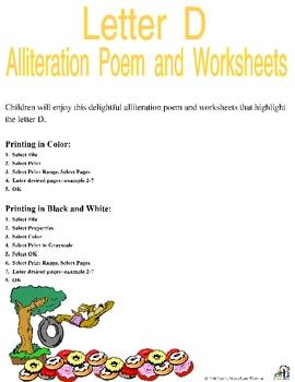 Letter D Alliteration Set