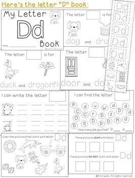 Letter D: Alphabet Activity Book