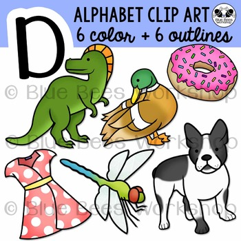 Letter D Clip Art Alphabet / Beginning Sound D