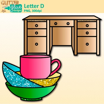 Letter D Alphabet Clip Art {Teach Phonics, Recognition, and Identification}