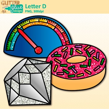 Letter D Alphabet Clip Art | Teach Phonics, Recognition, and Identification