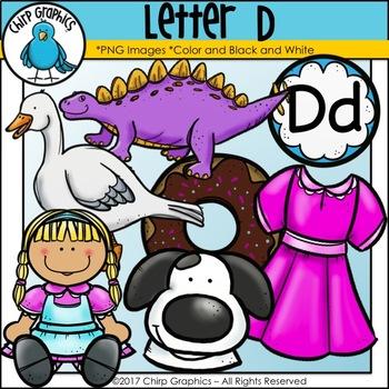 Letter D Alphabet Clip Art Set - Chirp Graphics