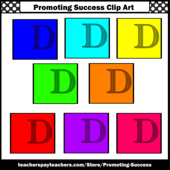 Alphabet Letter D Clipart, Beginning Sounds Clip Art SPS