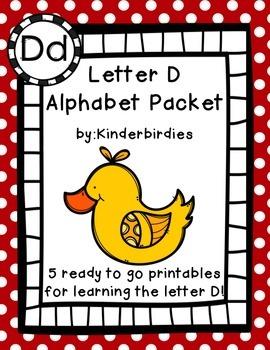Letter D Alphabet Packet