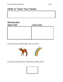 Letter D Assessment