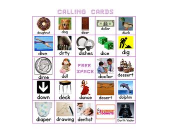 Letter D Bingo