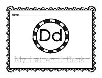 Letter D Book: Handwriting Practice