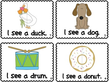 Letter D Book of Beginning Sounds-Emergent Reader w/Running Record-CCSS Aligned