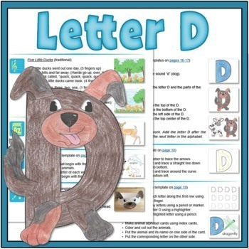 Letter D Bundle: 1 Week Of Complete Curriculum Lessons