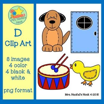 Letter D Beginning Sound Clip Art