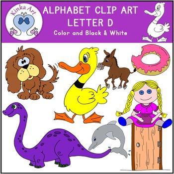 Letter D Clip Art {Beginning Sounds} Alphabet