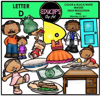 Letter D Clip Art Bundle {Educlips Clipart}