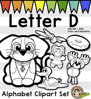 Alphabet Clip Art: Letter D Phonics Clipart Set - Clip Art