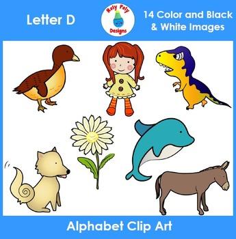 Letter D Clip Art Set