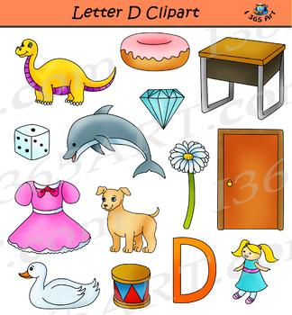 Letter D Clipart Set Commercial-Us Graphics