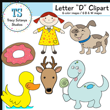"Letter ""D"" Clipart Set {Tracy Sztanya Studios}"