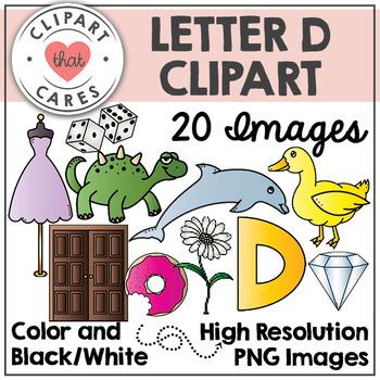 Letter D Alphabet Clipart by Clipart That Cares