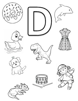 Letter D Coloring Page by Early Childhood Resource Center ...