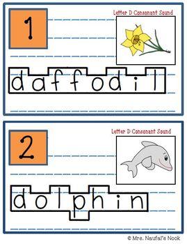 Alphabet Read the Room Letter D
