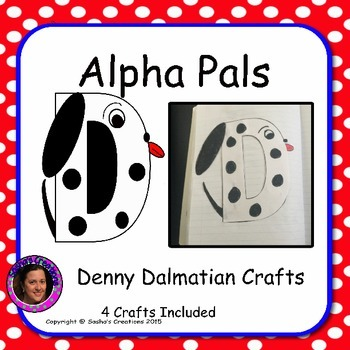 Letter D Craft: Denny Dalmatian Alpha Pal