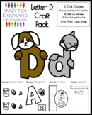 Letter D Craft Pack for Kindergarten
