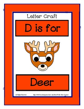 Letter D Craftivity - Deer - Zoo Phonics Inspired - Color & BW Versions