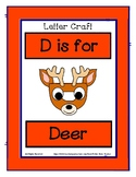 Letter D Craftivity - Deer - Zoo Phonics Inspired - Color