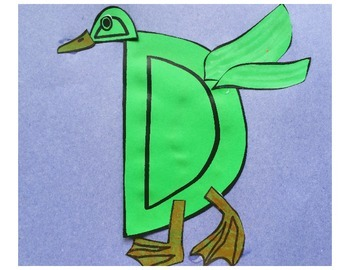 Letter D Cut/Paste Craft Template - D is for Duck!
