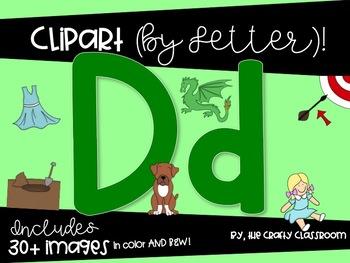 Letter D Digital Clipart