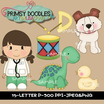 Letter D Early Learning Clipart