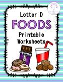 Letter D Foods Printable Worksheets