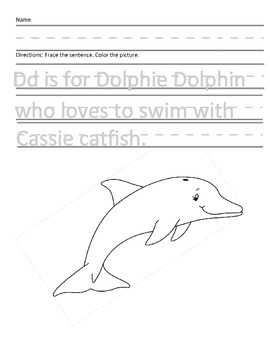 Letter D for Dolphin Handwriting Practice and Questions!