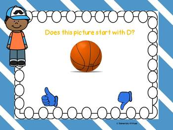 Letter D Identification Interactive Task Cards Alphabet Boom Cards with Sound