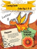 Letter D - Lacing Cards and Color by 1 - 2 - 3