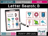 Letter D: Letter Search Center {{FREE}}
