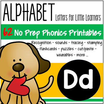 Letter D Recognition, Sound, Tracing and Craftivities