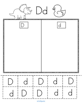 Alphabet D Letter of the Week Phonics Recognition, Sound, Tracing & Craftivities