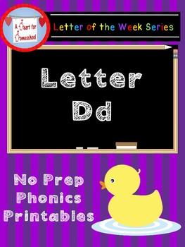 Letter D No Prep Printables