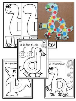 Pre-KG Alphabet Worksheets- LETTER Dd Printables- Tracing, coloring, recognition