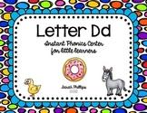 Letter D Phonics Center