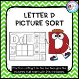 Letter D Picture Sort - Initial Sound